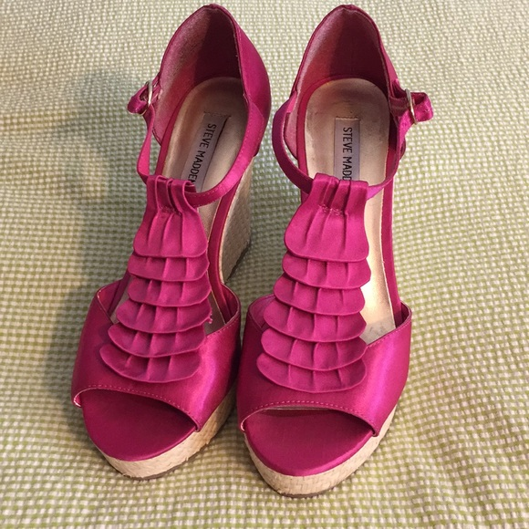 d4bd513d419 ... steve madden shoes fuchsia wedge sandals poshmark  shoes woman ...